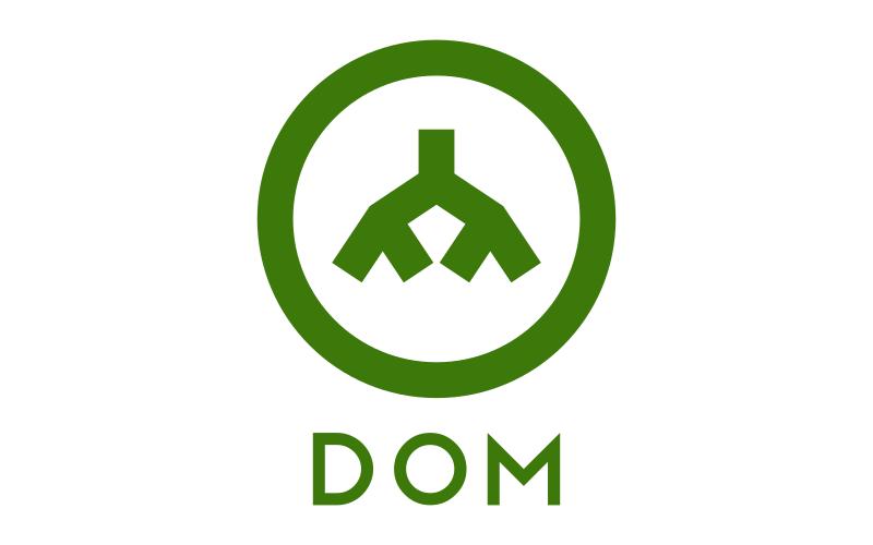 Ikona przedstawiajaca strukturę drzewa wewnątrz okręu oraz słowo DOM