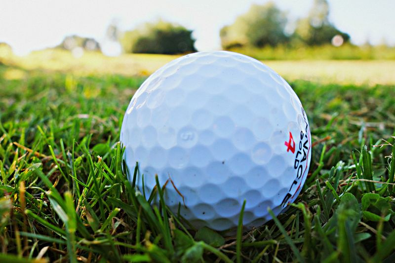 Piłka do golfa na trawie