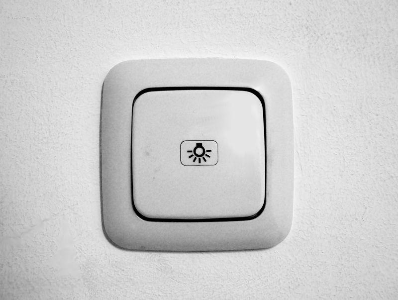 Włącznik Światła z ikonką żarówki